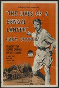 "Movie Posters:Adventure, The Lives of a Bengal Lancer (Paramount, R-1958). One Sheet (27"" X41""). Adventure. ..."