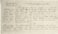 Autographs:U.S. Presidents, Abraham Lincoln. Unsigned Autograph Document. No place or date, onepage, oblong octavo. In Lucetta Stevens vs Phineas Steve...
