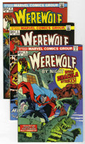 Bronze Age (1970-1979):Horror, Werewolf by Night Group (Marvel, 1973-74) Condition: AverageNM-.... (Total: 4 Comic Books)