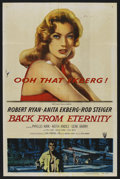 "Movie Posters:Drama, Back from Eternity (RKO, 1956). One Sheet (27"" X 41""). Drama. ..."
