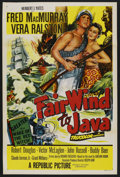 "Movie Posters:Adventure, Fair Wind to Java (Republic, 1953). One Sheet (27"" X 41"").Adventure...."