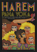"Movie Posters:Comedy, Peter Vok's Harem (Barrandowie, 1971). Polish One Sheet A1 Vertical (23"" X 32""). Comedy. ..."