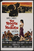 "Movie Posters:Adventure, The Roots of Heaven (20th Century Fox, 1958). One Sheet (27"" X41""). Adventure. ..."