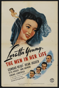 """The Men in Her Life (Columbia, 1941). One Sheet (27"""" X 41"""") Style A. Drama"""