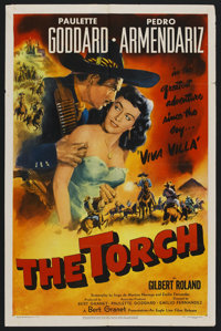 """The Torch (Eagle Lion, 1950). One Sheet (27"""" X 41""""). Drama"""