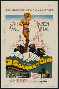 """3 Sailors and a Girl (Warner Brothers, 1953). One Sheet (27"""" X 41""""). Musical"""