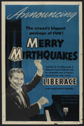 """Movie Posters:Musical, Merry Mirthquakes (RKO, 1953). One Sheet (27"""" X 41"""") Style A. Musical Comedy. ..."""