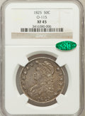 Bust Half Dollars: , 1825 50C XF45 NGC. CAC. O-115. NGC Census: (98/762). PCGSPopulation (152/770). Mintage: 2,900,000. Numismedia Wsl. Pricef...