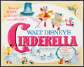 "Movie Posters:Animation, Cinderella (Buena Vista, R-1973). Half Sheet (22"" X 28"").Animation.. ..."