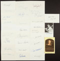 Autographs:Post Cards, Baseball Legends Signed Index Cards And Postcards Lot Of 27....