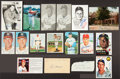 Autographs:Photos, Baseball Stars Signed Photos And Postcards Lot Of 17....