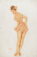 Pin-up and Glamour Art, ALBERTO VARGAS (American, 1896-1982). The Varga Girl, calendarpin-up for the month of March, 1948. Watercolor on board...(Total: 2 Items)