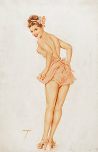 ALBERTO VARGAS (American, 1896-1982) The Varga Girl, calendar pin-up for the month of March, 1948 Wa