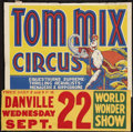 """Movie Posters:Western, Tom Mix Circus (Tom Mix Circus, 1937). Circus Poster (21"""" X 28"""")with Date and Place Snipe (9"""" X 28.5""""). Western.. ..."""