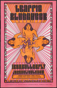 "Traffic at the Fillmore East (Bill Graham, 1968). Poster (14"" X 22""). Rock and Roll"