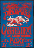 "Movie Posters:Rock and Roll, Dinosaurs and Canned Heat at the Roxy (San Anselmo PrintingInkoporated, 1982). Concert Poster (14"" X 20""). Rock and Roll.. ..."