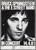 "Movie Posters:Rock and Roll, Bruce Springsteen & The E Street Band and Other Lot (CBS,1981). German Tour Concert Poster (21"" X 29"") & Counter Display(1... (Total: 2 Items)"