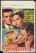 """Movie Posters:Hitchcock, The Paradine Case (Selznick, 1948). Belgian Poster (14.5"""" X 21.5""""). Hitchcock.. ..."""