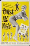 """Movie Posters:Rock and Roll, Twist All Night (American International, 1962). One Sheet (27"""" X41""""). Rock and Roll.. ..."""