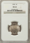 Liberty Nickels: , 1898 5C MS64 NGC. NGC Census: (138/102). PCGS Population (186/110).Mintage: 12,532,087. Numismedia Wsl. Price for problem ...