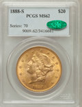 Liberty Double Eagles, 1888-S $20 MS62 PCGS. CAC....