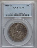 Seated Half Dollars: , 1851-O 50C VF30 PCGS. PCGS Population (1/64). NGC Census: (1/35).Mintage: 402,000. Numismedia Wsl. Price for problem free ...
