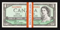 Canadian Currency: , BC-37ba $1 1954 Modified Portrait Forty-nine Consecutive Examples..... (Total: 49 notes)