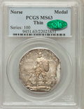 Commemorative Silver: , 1925 Medal Norse Thin Planchet MS63 PCGS. CAC. PCGS Population(104/151). (#9451)...