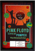 Music Memorabilia:Awards, Pink Floyd Live at Pompeii: The Director's Cut RIAA PlatinumDVD Award....