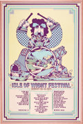 Music Memorabilia:Posters, Isle of Wight Music Festival Poster Ticket and Photo Group(1969-70).... (Total: 4 Items)