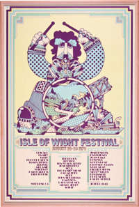 Isle of Wight Music Festival Poster Ticket and Photo Group (1969-70)