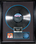 "Movie/TV Memorabilia:Memorabilia, A Whitney Houston-Related RIAA Platinum Sales Award for ""WhitneyHouston,"" 1985...."