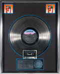 "Movie/TV Memorabilia:Memorabilia, A Whitney Houston-Related RIAA Multi-Platinum Sales Award for""Whitney Houston,"" 1985...."