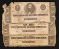 Confederate Notes:1863 Issues, T62 $1 1863 Three Examples.. ... (Total: 3 notes)