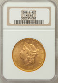 Liberty Double Eagles: , 1889-S $20 MS62 NGC. NGC Census: (521/106). PCGS Population(709/339). Mintage: 774,700. Numismedia Wsl. Price for problem ...