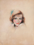 Pulp, Pulp-like, Digests, and Paperback Art, CHARLES GATES SHELDON (American, 1889-1960). Joan Crawford,Screenland magazine cover, April 1935. Pastel on board. 12 x...