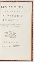 Books:Literature Pre-1900, Longus. Les Amours de Daphnis et Chloe. Amsterdam, 1794.Later edition. Foxing. Hinges cracked and ffep detached. Bo...