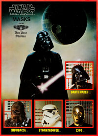 """Star Wars Masks by Don Post Studios (20th Century Fox, 1977). Advertising Poster (18"""" X 25"""")"""