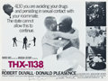 "Movie Posters:Science Fiction, THX 1138 (Warner Brothers, 1971). Autographed British Quad (30"" X40"").. ..."