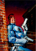 Original Comic Art:Covers, Mike Zeck and Mark Texeira The Punisher Magazine #1 CoverOriginal Art (Marvel, 1989)....