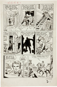 Jack Kirby and Dick Ayers Two-Gun Kid #62 Page 2 Original Art (Marvel, 1963)