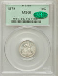 Seated Dimes, 1879 10C MS66 PCGS. CAC. Breen-3415, Fortin-104a, R.4....