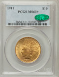 Indian Eagles, 1911 $10 MS63+ PCGS. CAC. PCGS Population (1551/614). NGC Census:(1584/1110). Mintage: 505,595. Numismedia Wsl. Price for ...