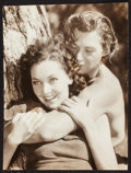 "Movie Posters:Adventure, Johnny Weissmuller and Maureen O'Sullivan in Tarzan Escapes (MGM,1936). Trimmed Portrait Photo (9.25"" X 12.25""). Adventure...."