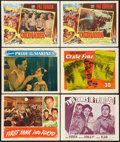 "Movie Posters:War, First Yank into Tokyo & Others Lot (RKO, 1945). Lobby Cards (6)(11"" X 14""). War.. ... (Total: 6 Items)"