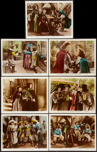 "The Three Musketeers (20th Century Fox, 1939). Color-Glos Lobby Cards (7) (11"" X 14""). Swashbuckler"