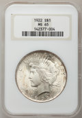 1922 $1 MS65 NGC. NGC Census: (14157/1378). PCGS Population (5618/601). Mintage: 51,737,000. Numismedia Wsl. Price for p...