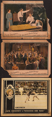 "Winning His Way and Other Lot (Universal, 1924). Lobby Cards (3) (11"" X 14""). Sports. ... (Total: 3 Items)"