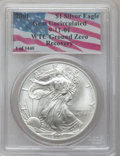 Modern Bullion Coins, 2001 $1 Silver Eagle Gem Uncirculated PCGS. Ex: 9-11-01 WTC GroundZero Recovery. PCGS Population (1/23545). NGC Census: (0...