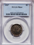 Proof Liberty Nickels: , 1907 5C PR64 PCGS. PCGS Population (177/133). NGC Census:(104/161). Mintage: 1,475. Numismedia Wsl. Price for problemfree...